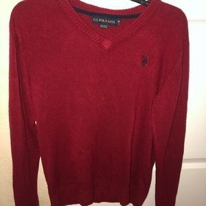 U.S. Polo Assn Men's Solid V-Neck Sweater